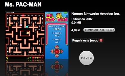 Nuevo juego para el iPod: Ms. PAC-MAN