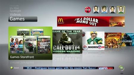 La publicidad masiva llega a Xbox Live