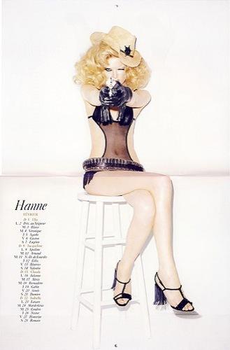 El calendario más erótico de Vogue para 2009, mes de febrero