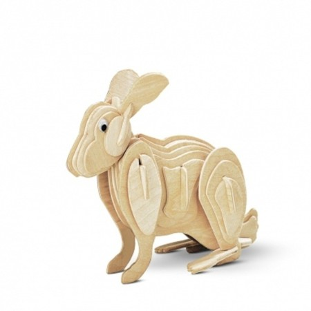 puzzle 3d conejo