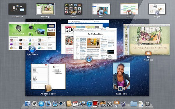 os x lion mission control apple mac