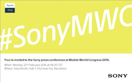 Mwc 2016 Sony Conference
