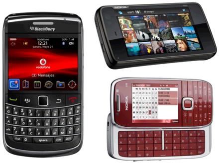 Nokia N900, Blackberry Bold2 y Nokia E75 también por puntos Vodafone