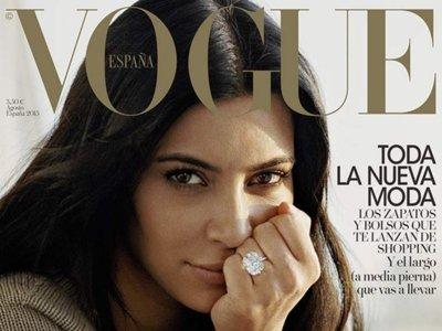 Kim Kardashian sin maquillaje. Kim Kardashian en Vogue España