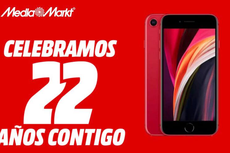 Móviles en oferta por el 22º aniversario de Mediamarkt: iPhone XR a un precio muy atractivo y móviles básicos desde 29 euros