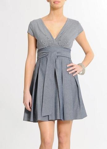 vestido gris mango