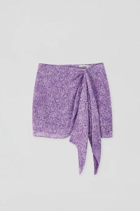 falda lila