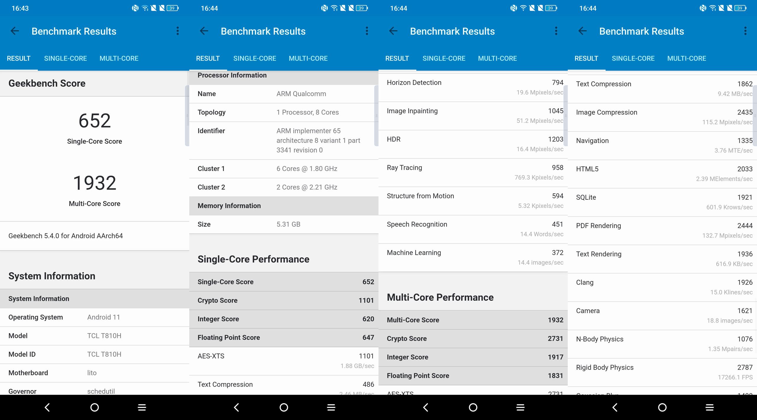 Foto de TCL 20 Pro 5G, benchmarks (1/4)