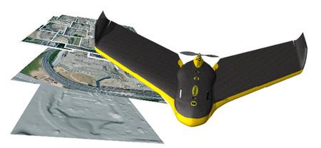 eBee, un avión espía que sirve para generar ortofotos