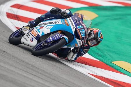 Gabriel Rodrigo es el séptimo poleman diferente en Moto3 y Arón Canet saldrá quinto en Montmeló