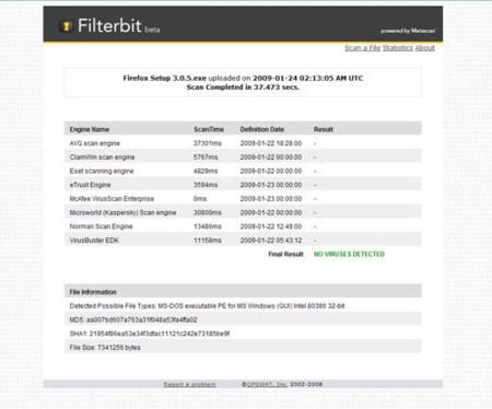 Filterbit, escanea online archivos sospechosos de tener virus
