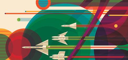 Descarga los pósters de la NASA para celebrar el 40 aniversario de las misiones Voyager