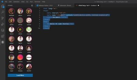 Las 'stories' ya han llegado incluso a Visual Studio Code: una extensión nos permite mostrar nuestro código al resto de usuarios