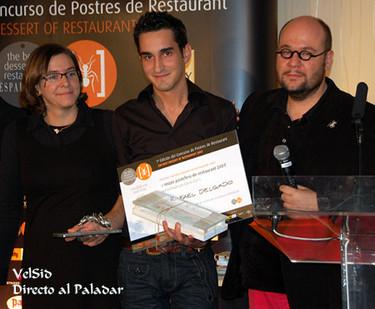 Rafael Delgado, Mejor Pastelero de Restaurante Premio Pierre Gagnaire