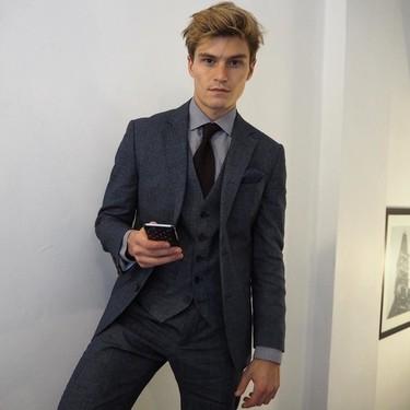 Pura elegancia: así fueron los looks con los que Oliver Cheshire conquistó la Fashion Week de Londres