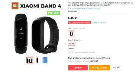Xiaomi Mi Band cuatro 2