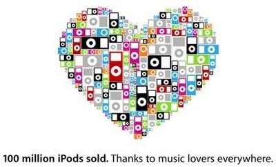 El iPod cumple 100 millones