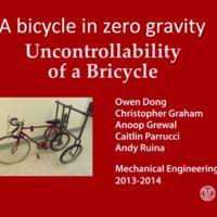 ¿Sería posible montar en bicicleta en gravedad cero?