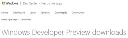 Échale un vistazo al futuro: Windows 8 Developer Preview