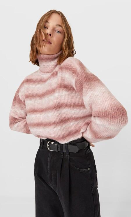 Jersey crop cuello alto