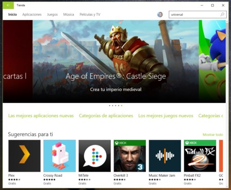Windows 10 Tienda Apps
