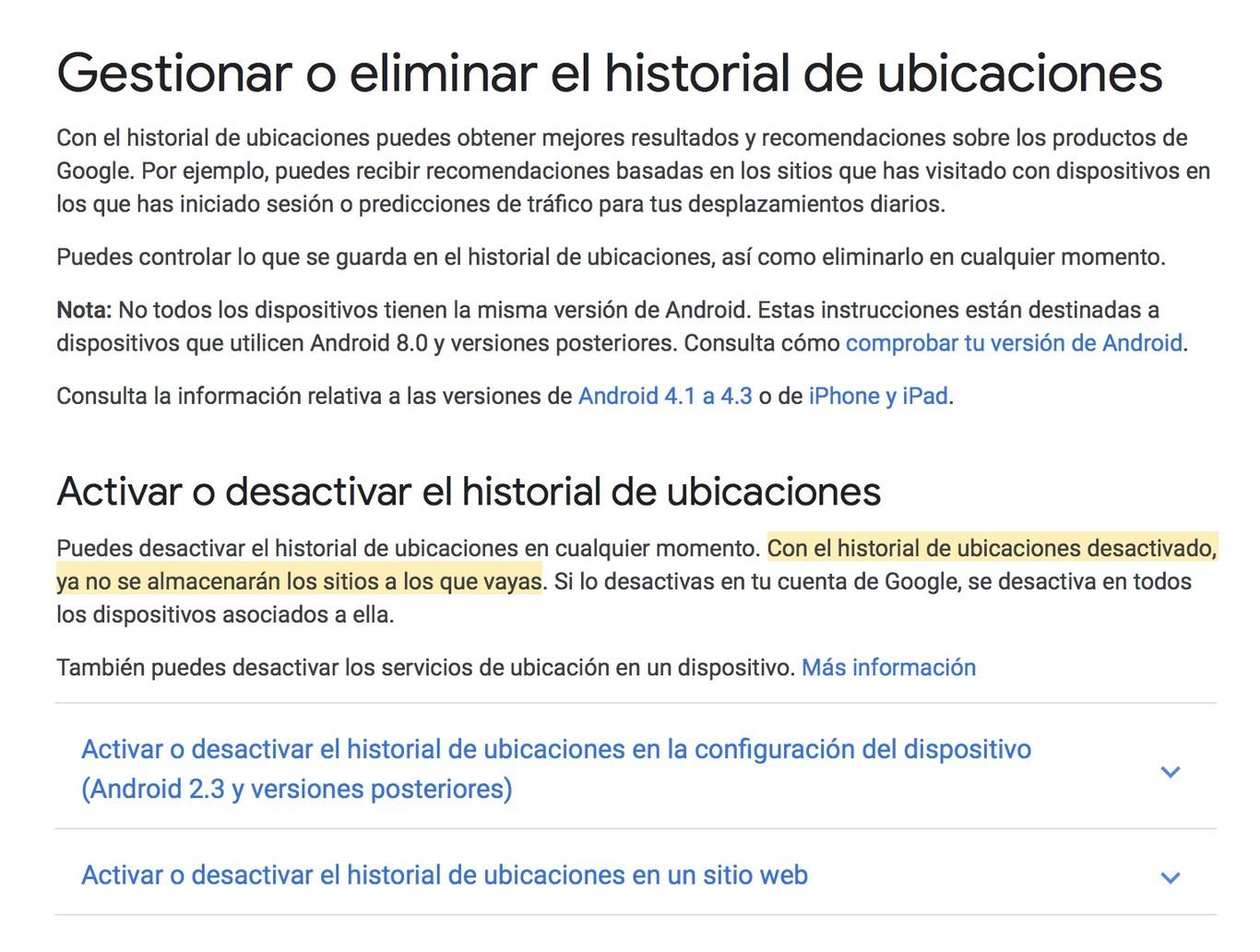 Historial De Ubicaciones Google Es