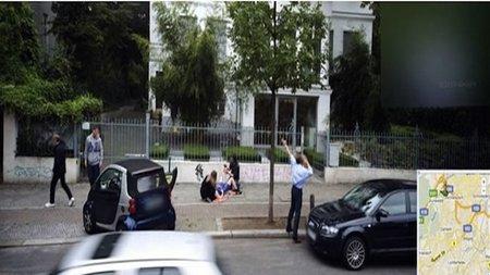 Un parto en la calle captado por Google Street View