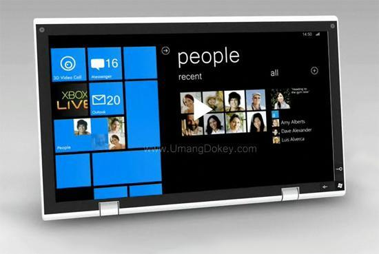 Imagen de la semana, una tablet con Windows Phone 7 Series