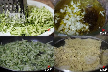 hacer noodles con calabacín