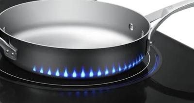 Samsung y su placa de inducción con fuego virtual creado por leds