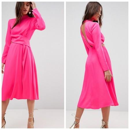 Vestido Rosa Neon