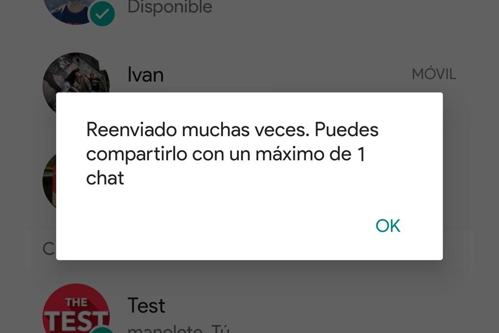 WhatsApp limitará el reenvio de los mensajes