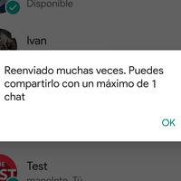 """WhatsApp limitará el reenvio de los mensajes """"virales"""" a un solo chat a la vez"""