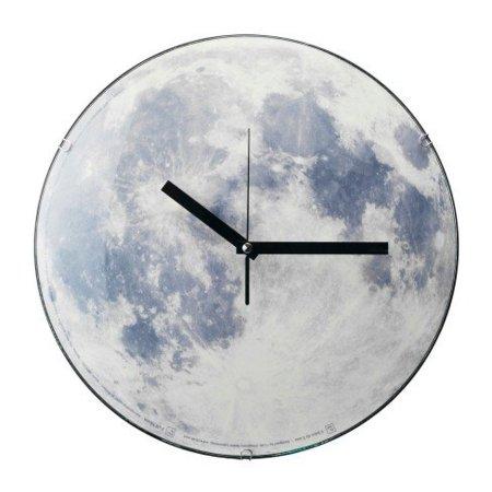 Una luna llena en el reloj de tu salón