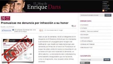 Promusicae y el honor del 45 por ciento de los internautas españoles