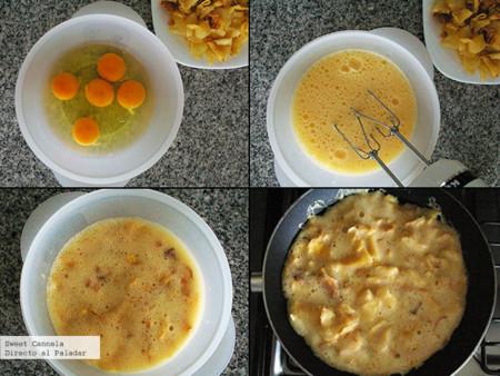 Preparación tortilla española