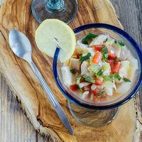 Ceviche de pescado a la acapulqueña: receta