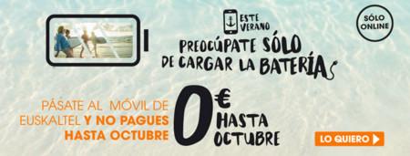 Euskaltel también tiene promoción de verano, con tarifas móviles gratis hasta octubre
