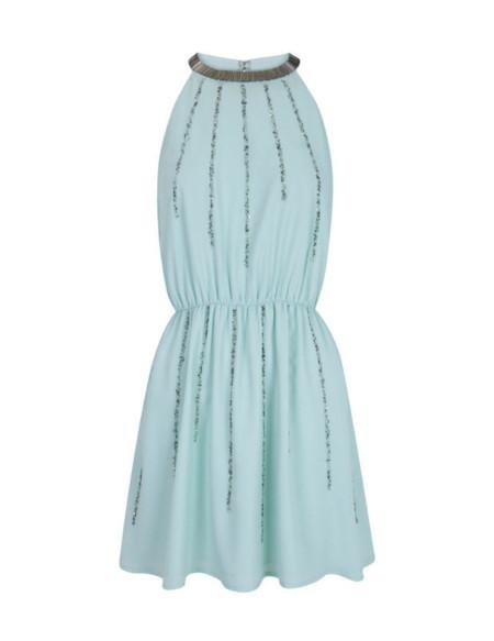 vestido blanco brillos rebajas 2014