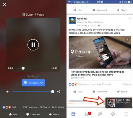 Vídeos de Facebook en Chromecast