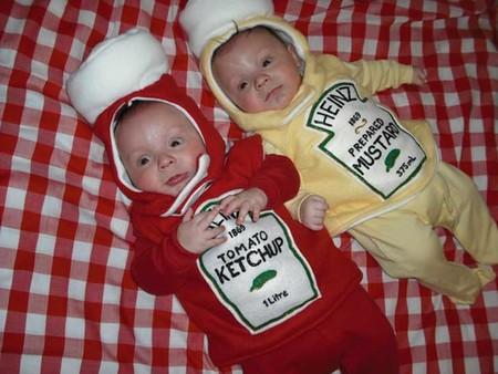 Ketchup y mostaza