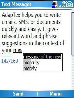 AdapTex, introducción rápida de texto