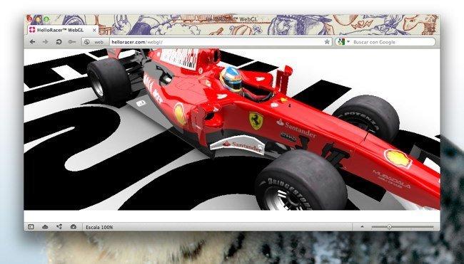 Opera 12 alpha con temas y usando la aceleración WebGL