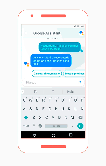 Google Assistant Espanol Recordatorio