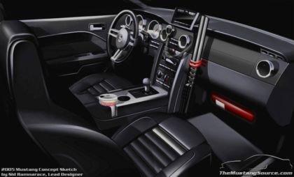 Ford Mustang Interior Sketch