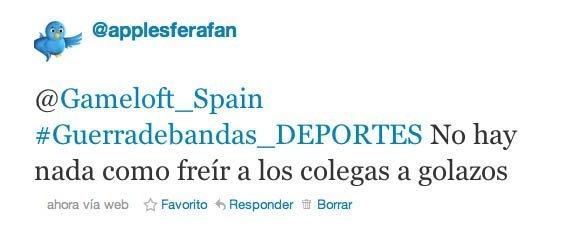 tweet deportes gameloft