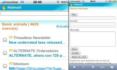 Hotmail ahora es compatible con el iPhone e iPod touch