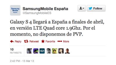 El Galaxy S4 que llegará a España es el modelo con LTE y Snapdragon [Actualizado]