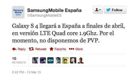 Samsung Galaxy S4 España
