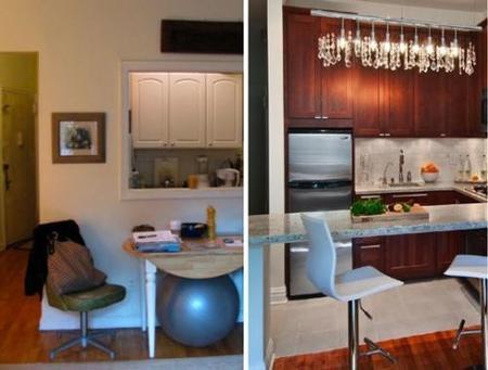 Antes y después: eliminar el tabique de la cocina (II)